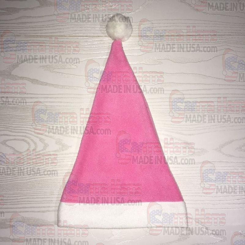 USA Pink Fleece Santa Hat - Santa Hats Made in USA 638db5c34f46