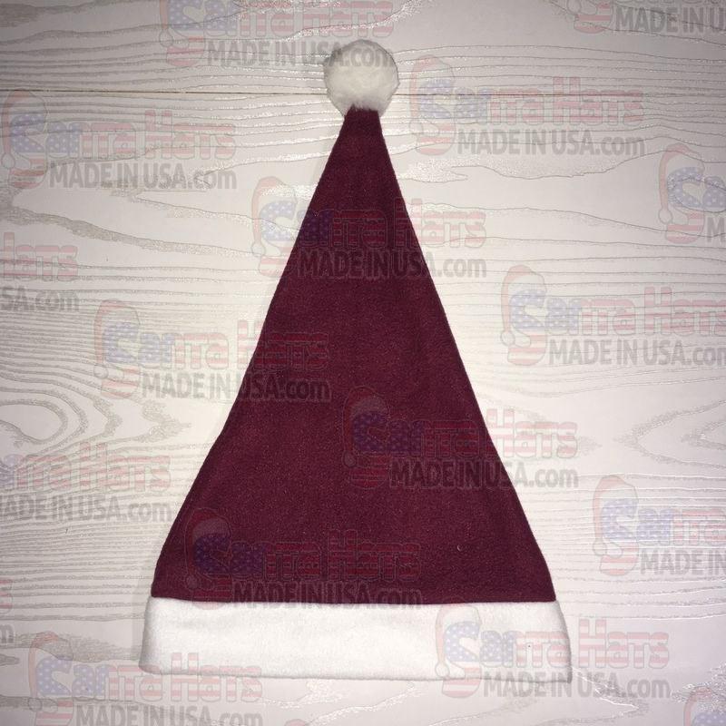 4b50bd66e2c USA Fleece Burgundy Santa Hat - Santa Hats Made in USA