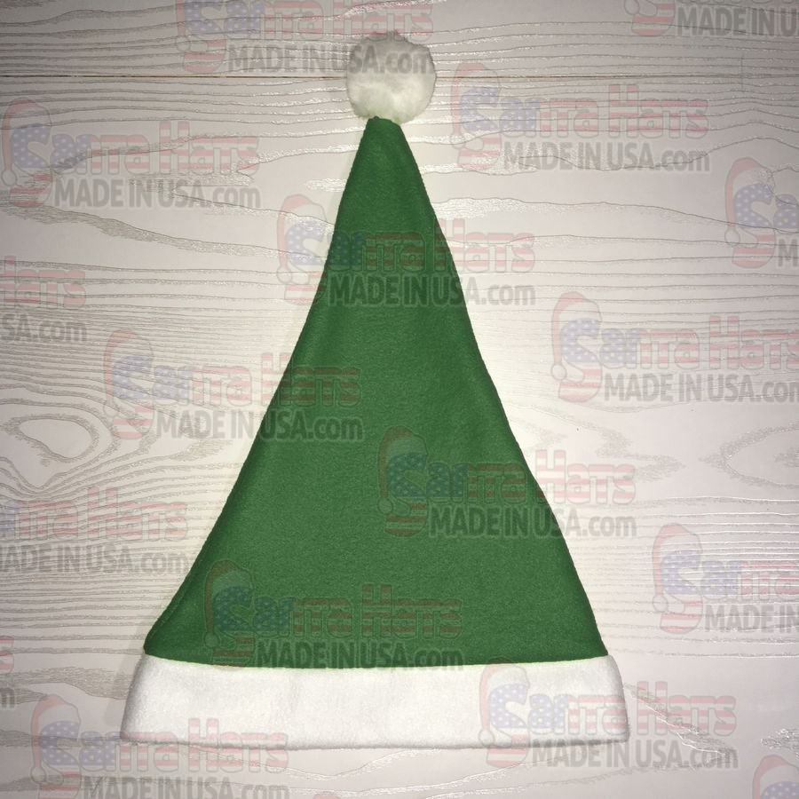 USA Green Fleece Santa Hat