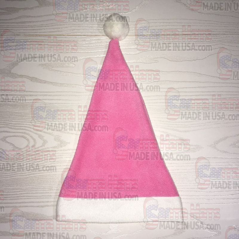 USA Pink Fleece Santa Hat