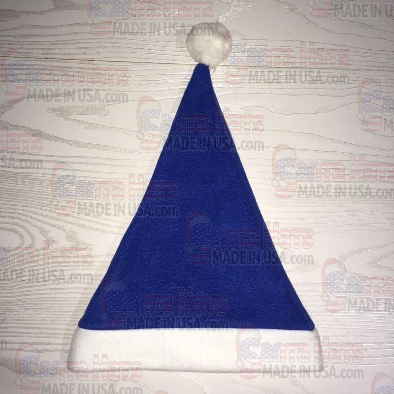 USA Blue Santa Fleece Hat