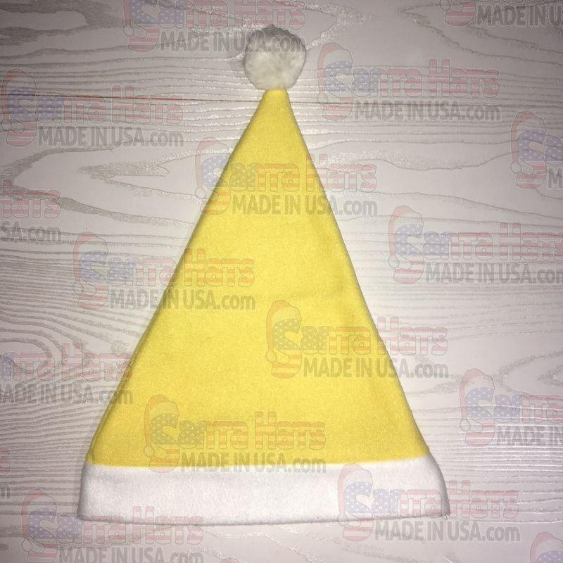USA Yellow Fleece Santa Hat