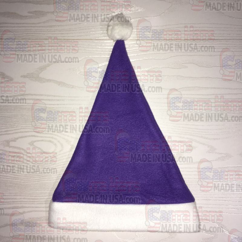 USA Purple Fleece Santa Hat