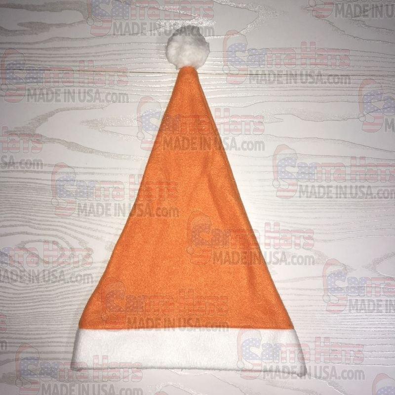 USA Orange Fleece Santa Hat