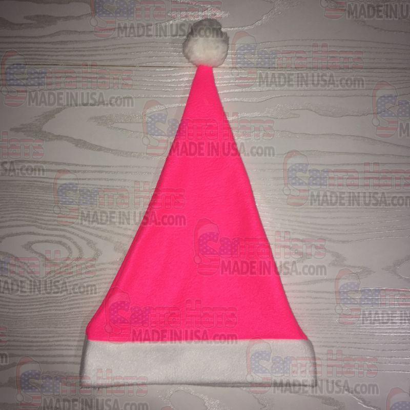 USA Hot Pink Fleece Santa Hat