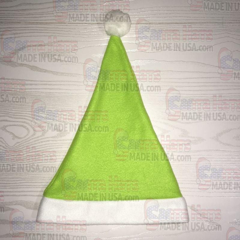 USA Light Green Fleece Santa Hat